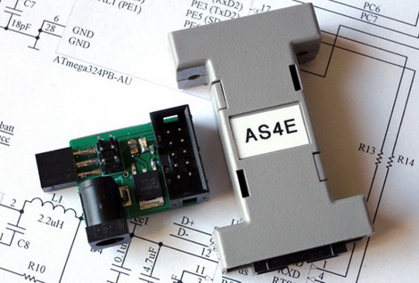 AS4E Enhanced AVR programmer with AS-con6 Adapter